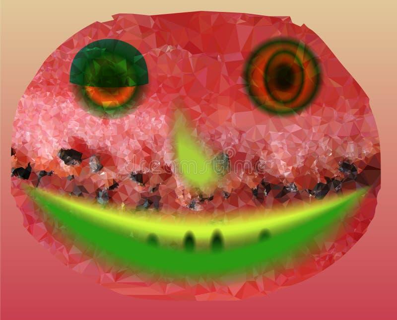 Sandía sonriente feliz imagen de archivo libre de regalías