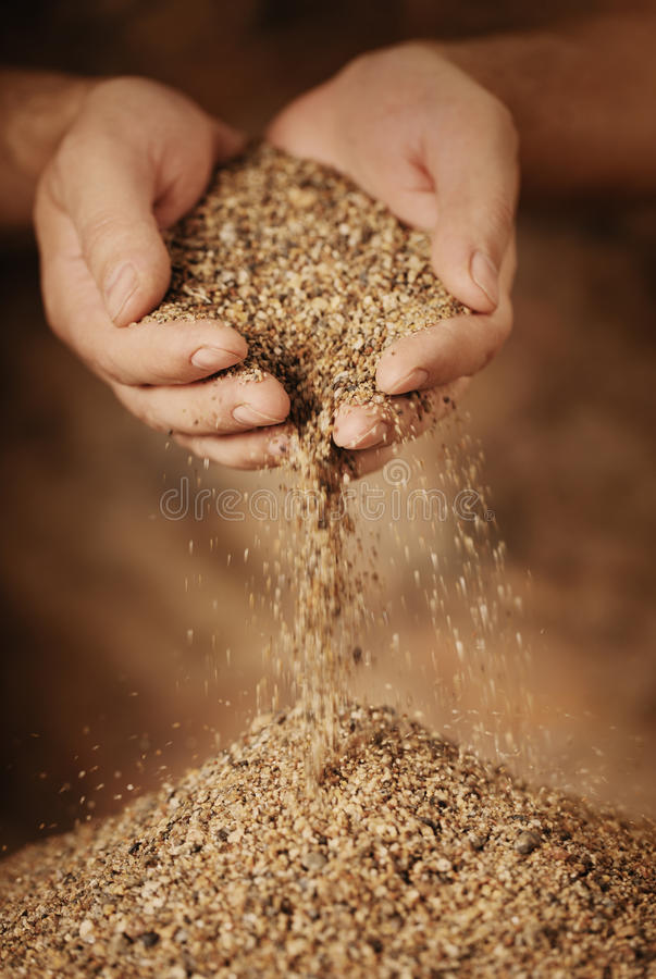 Download Sand stock image. Image of cupped, grain, trickles, sand - 16090403