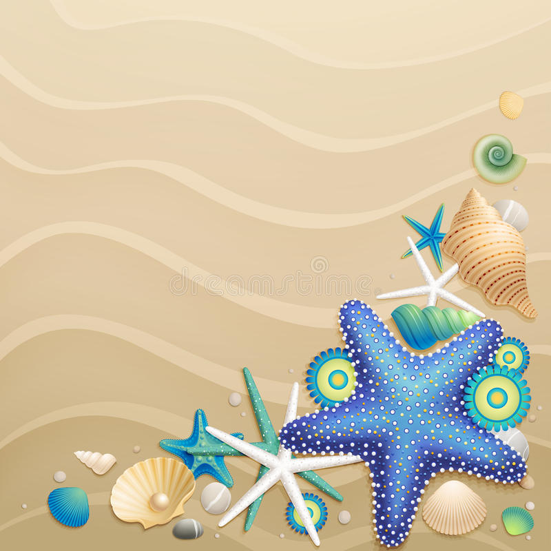 Sand background stock illustration