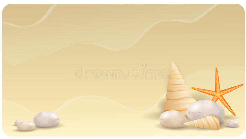 Download Sand Background With Pebble Stones, Seashells And Stock Vector - Illustration of illustrations, backgrounds: 32439681