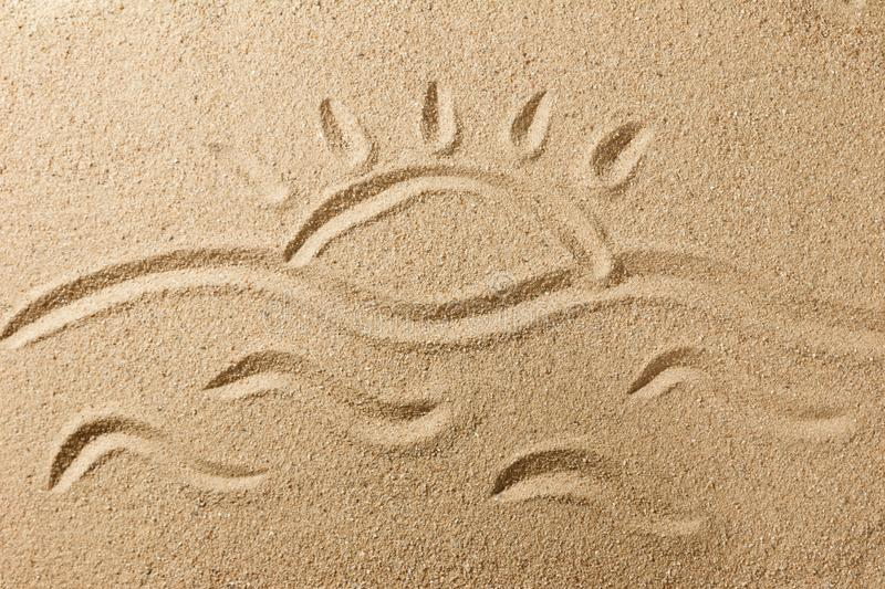 Sand beach royalty free stock images