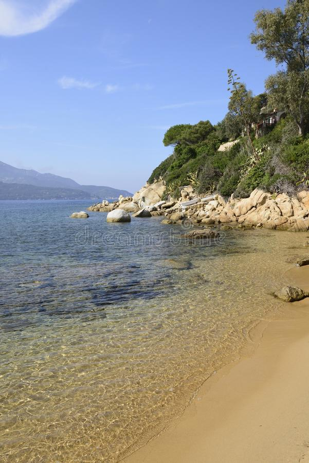 Sand Beach At Forno, Elba Royalty Free Stock Image