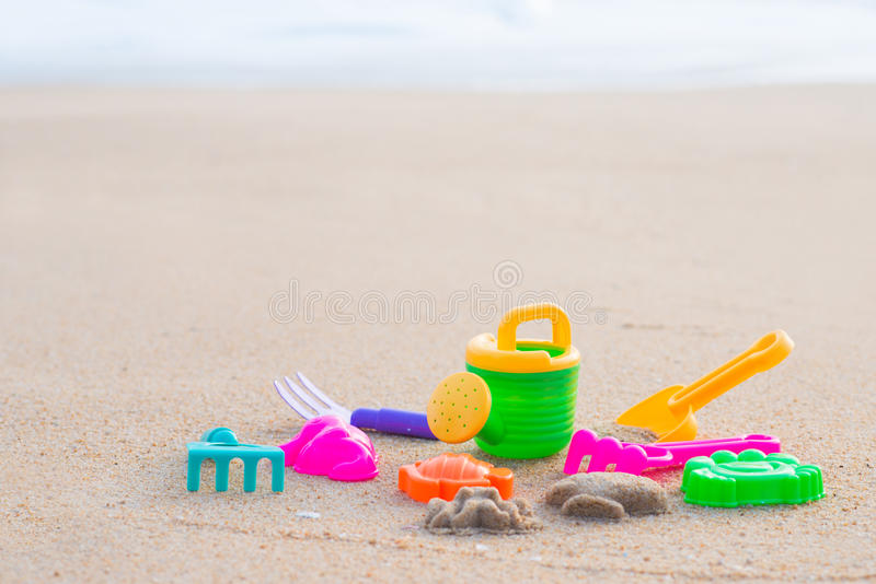 Download Sand Beach Toy Set For Kids Stock Photo - Image of rake, animal: 54871100