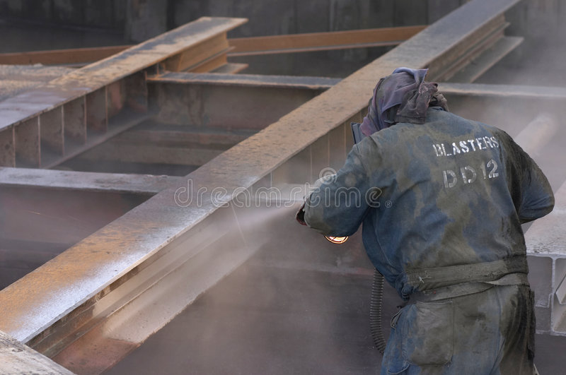 Sand blasting royalty free stock photos