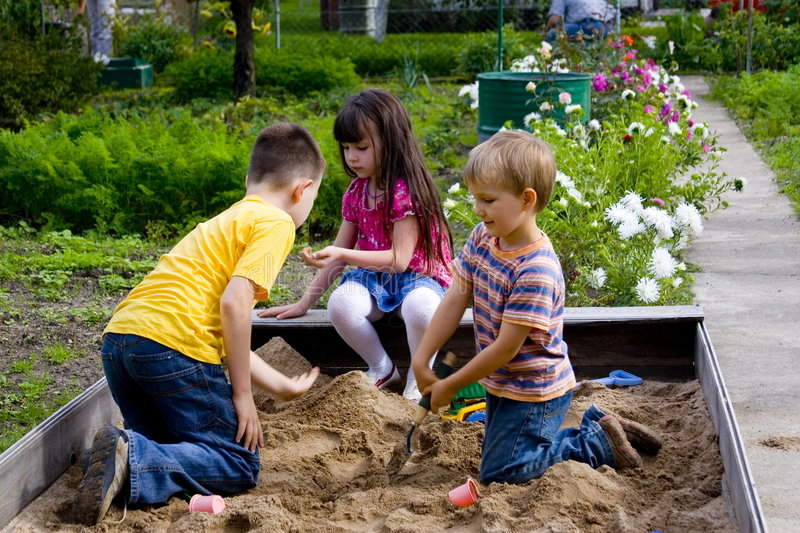 Sand-box stock image