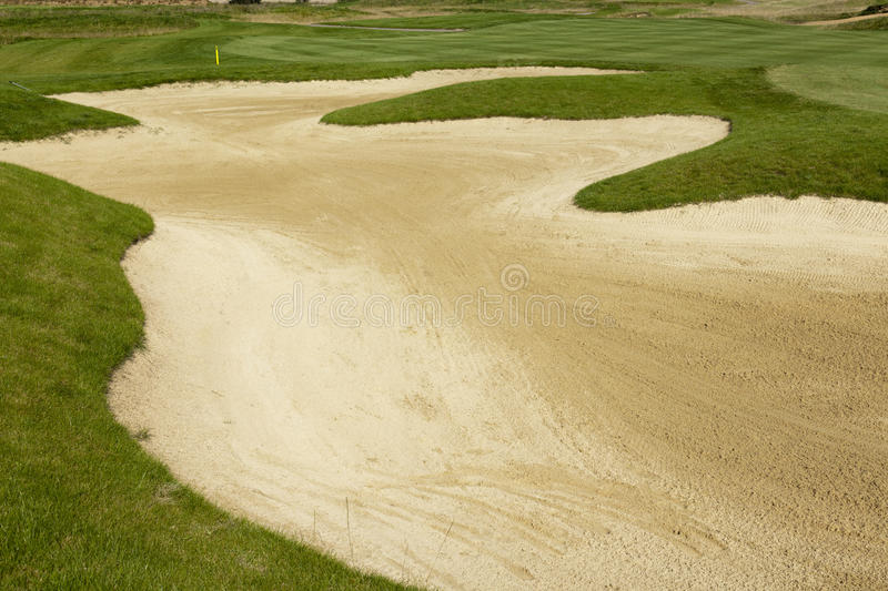 Sand bunker stock photo