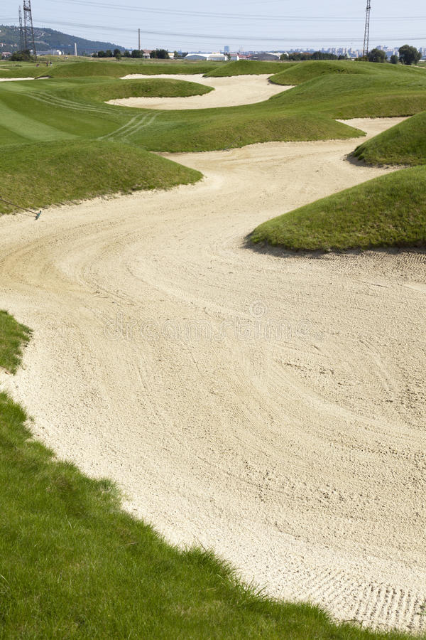 Sand bunker royalty free stock image