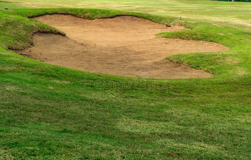 Sand bunker royalty free stock photos