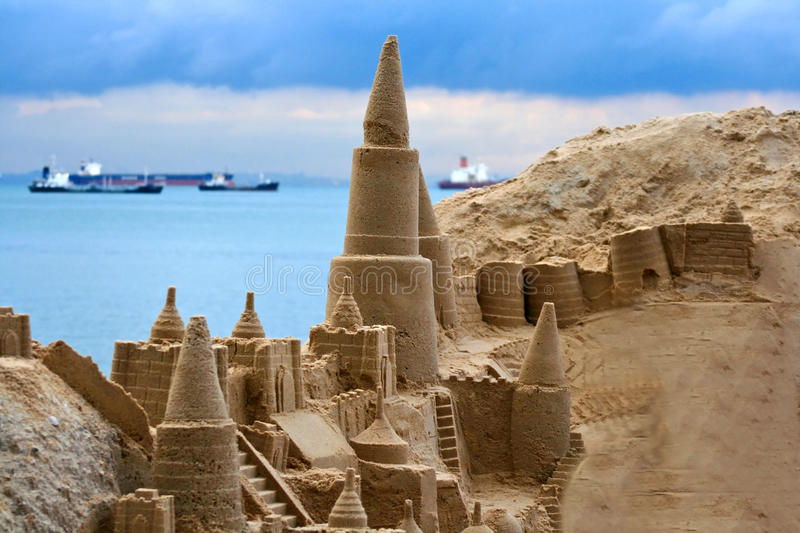 Download Sand castle stock image. Image of asian, natural, entertainment - 14669063