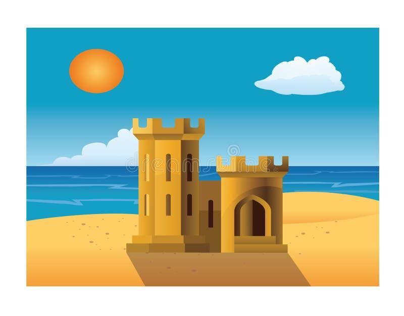 sand castle royalty free illustration