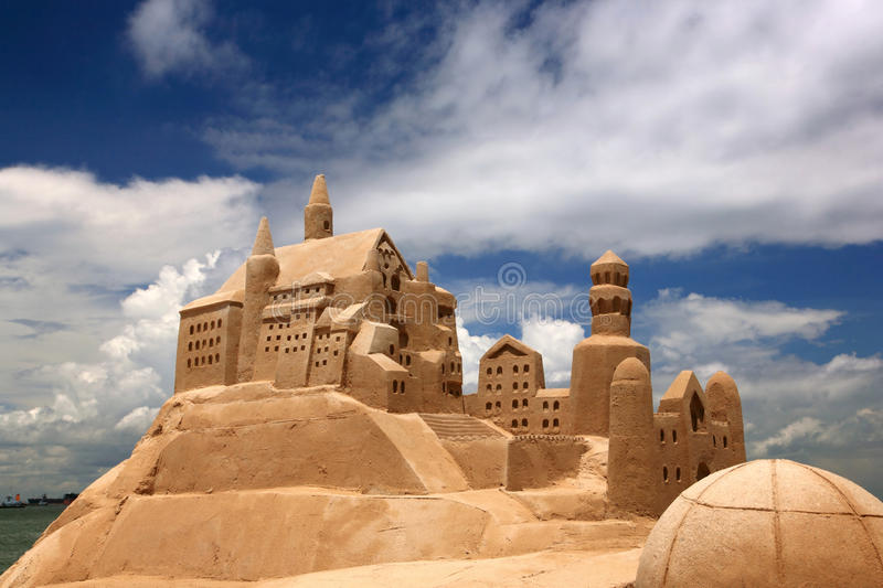 Download Sand castle stock photo. Image of marina, details, asian - 15286620