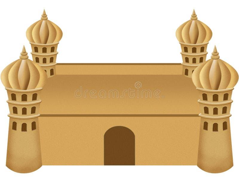 Sand Castle stock illustration