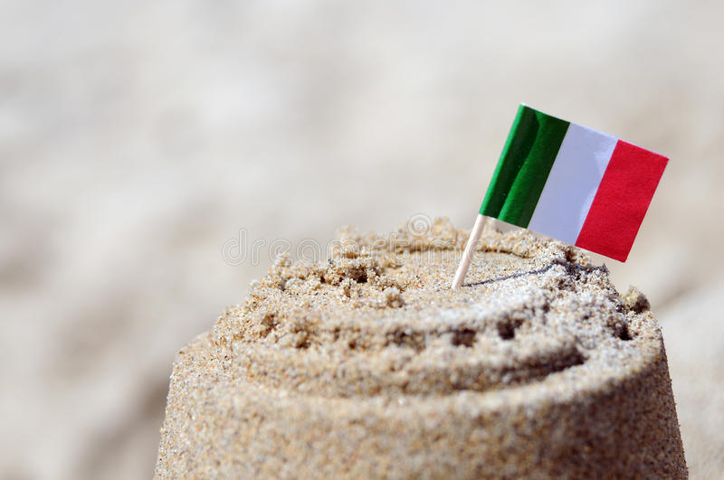 Download Sand castle stock image. Image of flag, country, italy - 19462265