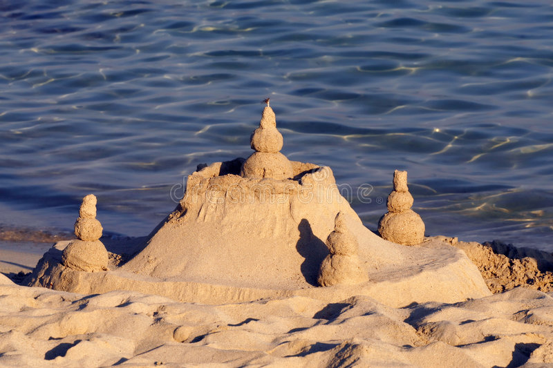 Download Sand Castle 2 stock photo. Image of holiday, water, white - 2905456