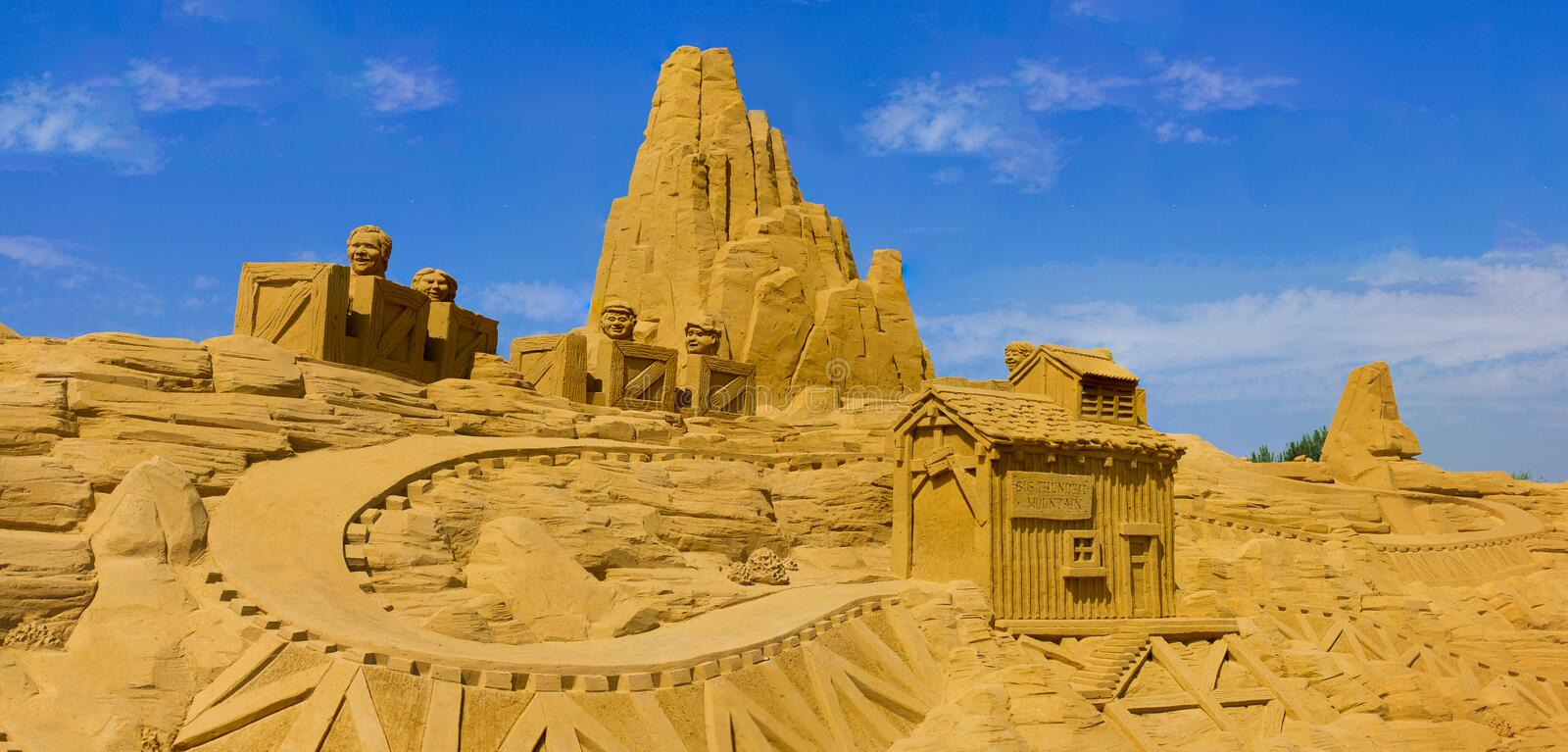 Sand castle stock illustration