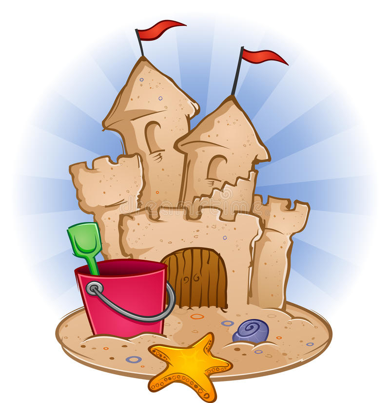 Download Sand Castle stock vector. Image of shovel, castle, snail - 22322435