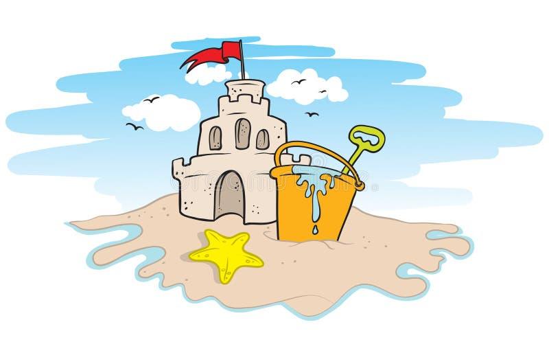 Download Sand castle stock vector. Illustration of pail, bird - 22332756