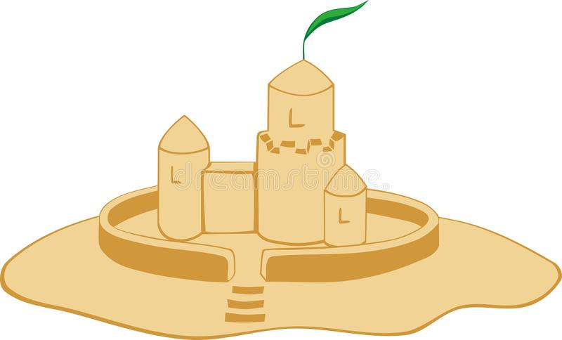 Download Sand castle stock vector. Image of fence, sand, castle - 25902140