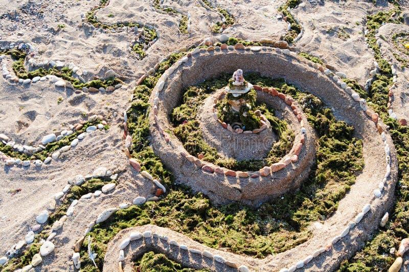Download Sand castle stock photo. Image of sand, symbol, spiral - 27455394