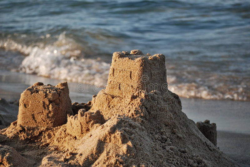 Download Sand castle stock image. Image of beach, holliday, sand - 5788287
