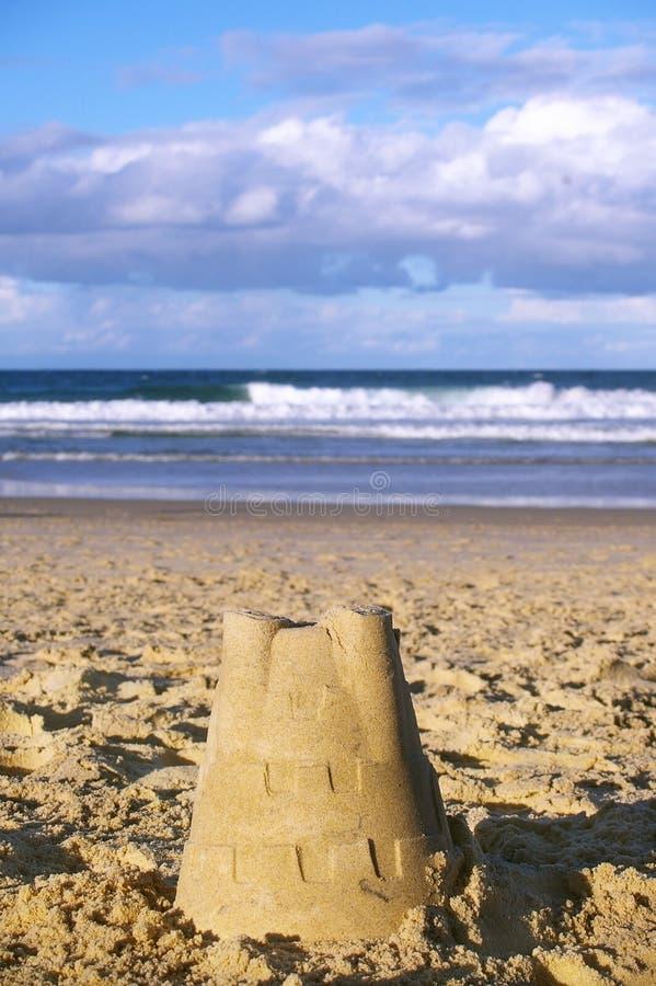 Sand castle australia stock photos