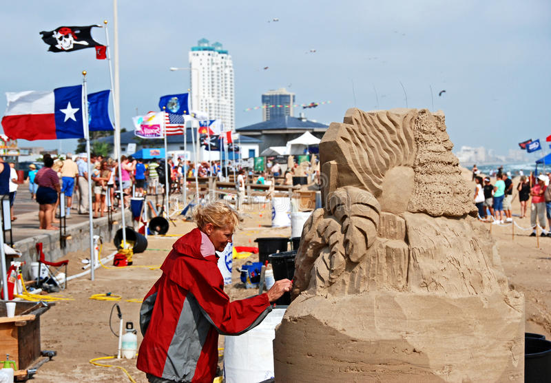 Sand Castle day on beach royalty free stock photo