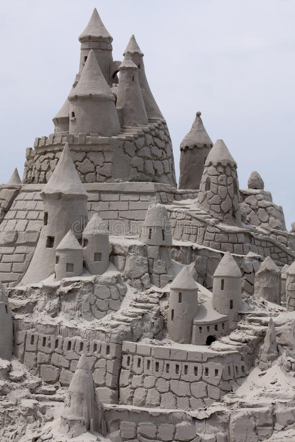 Sand Castle. Fancy Sand Castle with blue sky background royalty free stock photos