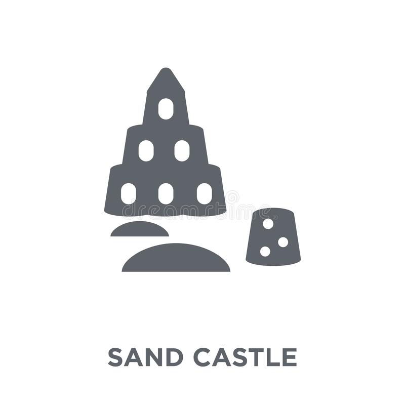 Sand castle icon from collection. royalty free illustration