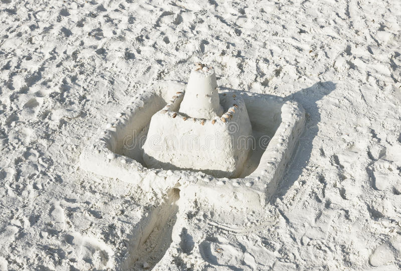 Download Sand Castle On A Sunny Beach Stock Image - Image: 17867959