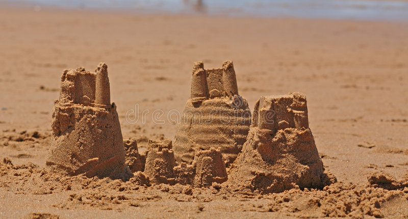Sand castles royalty free stock images