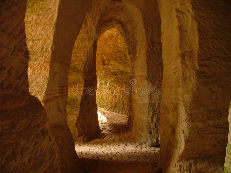 Sand caves stock photos