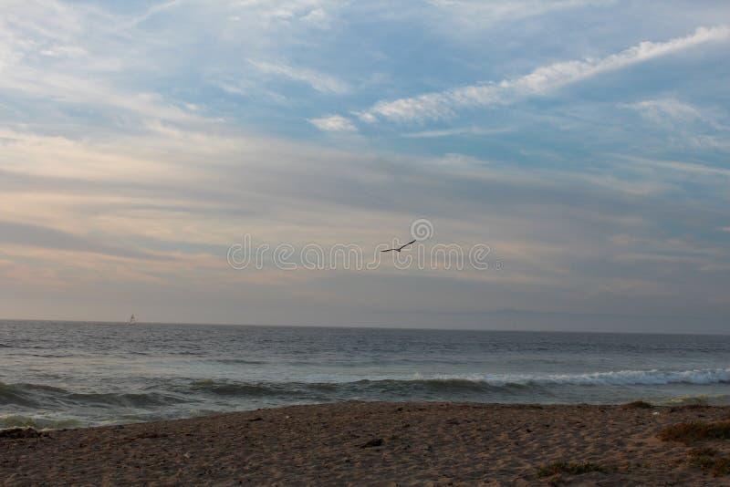 Sand City Beach i Monterey County, Kalifornien, Förenta staterna royaltyfri foto