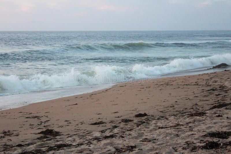 Sand City Beach i Monterey County, Kalifornien, Förenta staterna arkivfoton
