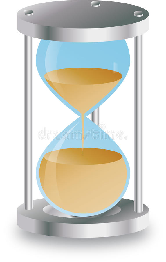 Sand clock stock images
