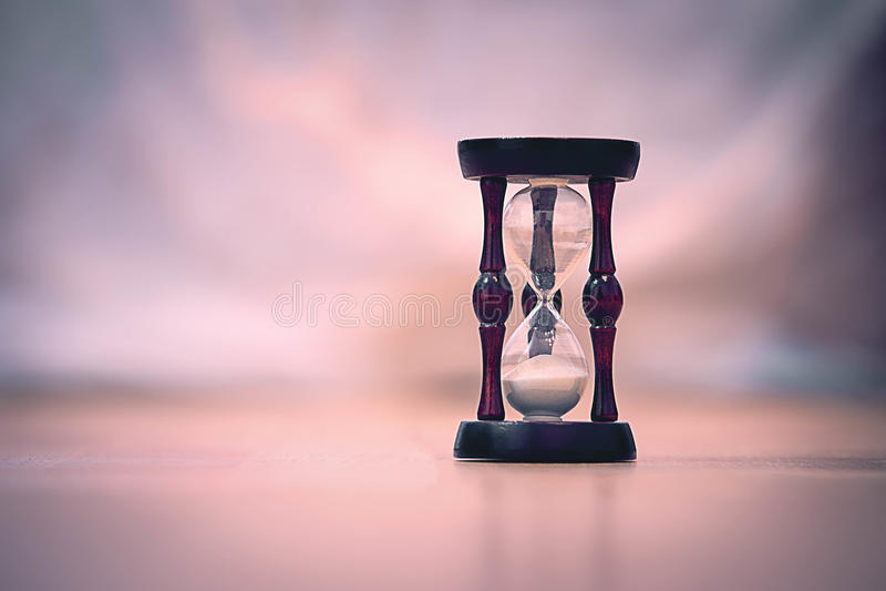 Sand clock royalty free stock photography