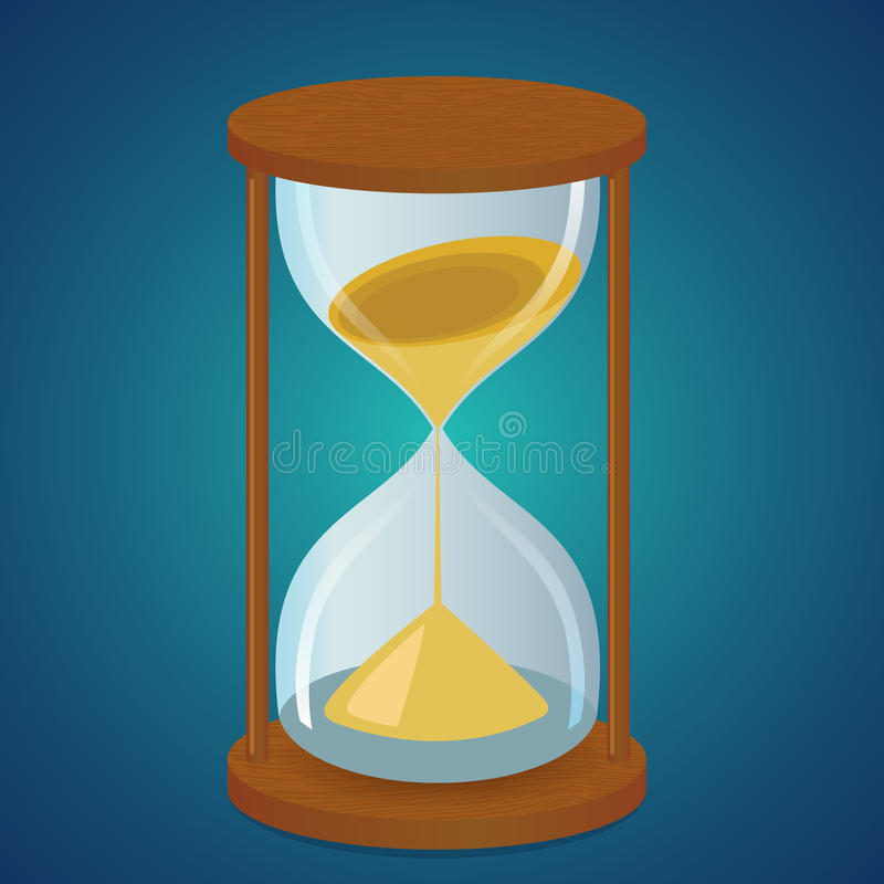 Sand clock stock illustration