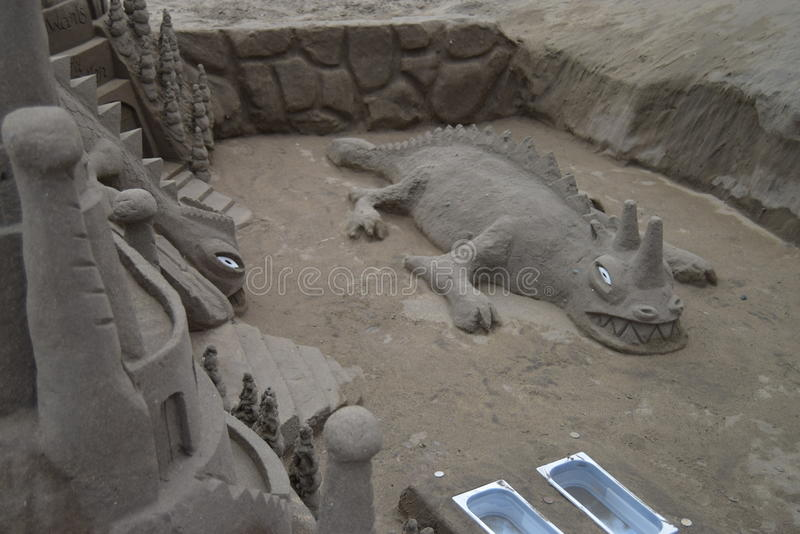 Sand crocodile royalty free stock photos