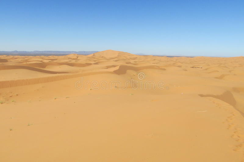 Sand desert dune in Sahara. Beautiful sand desert dune in Sahara. High sand dunes in the biggest world Sahara desert, Africa stock photography
