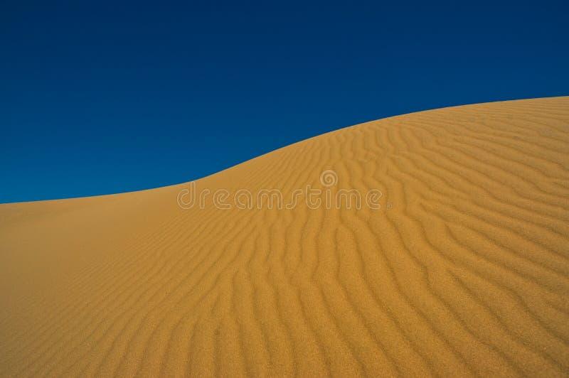 Sand dune against the sky.