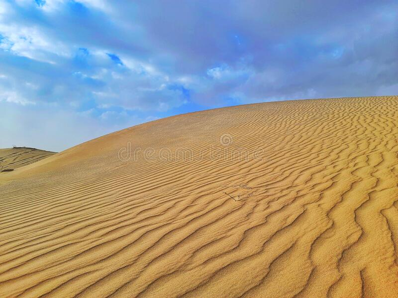 Sand dune and desert royalty free stock photo