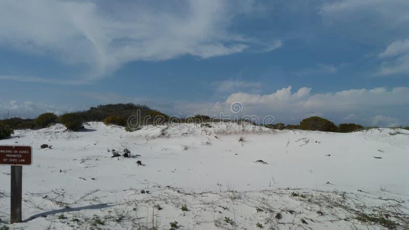 Sand dunes at Henderson Beach State Park stock photos