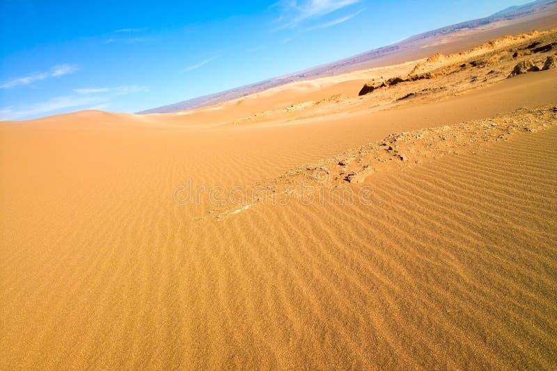 Sand dune at Valle de la Luna stock photography