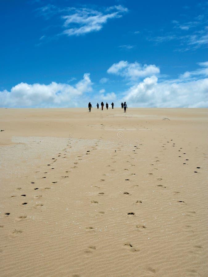 Sand dune walk stock photos