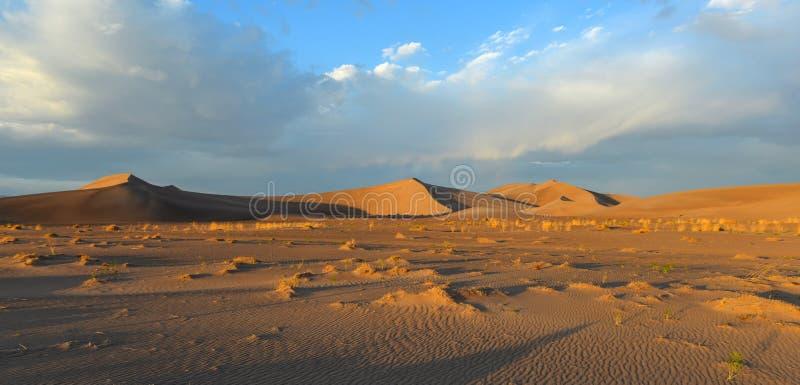 Sand Dunes along the Amargosa Desert at sunset royalty free stock photography