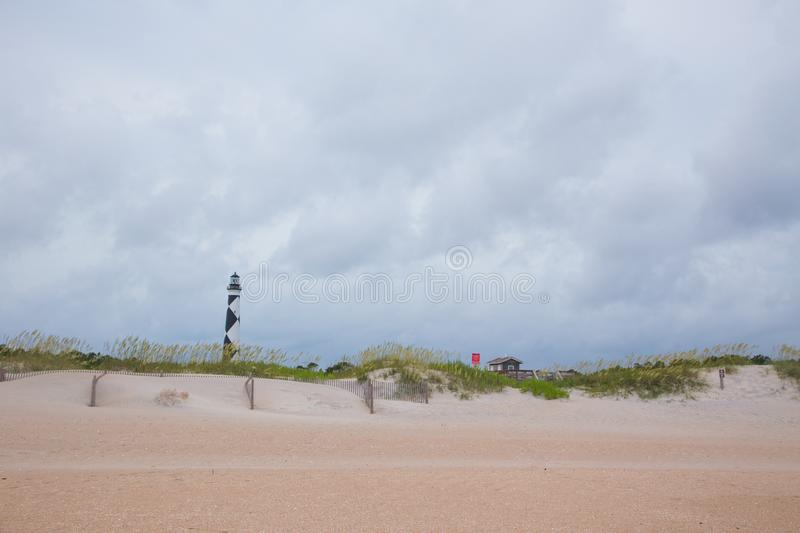 Sand Dunes and Cape Lookout Lighthouse stock photos