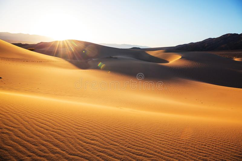 Sand dunes in California royalty free stock images