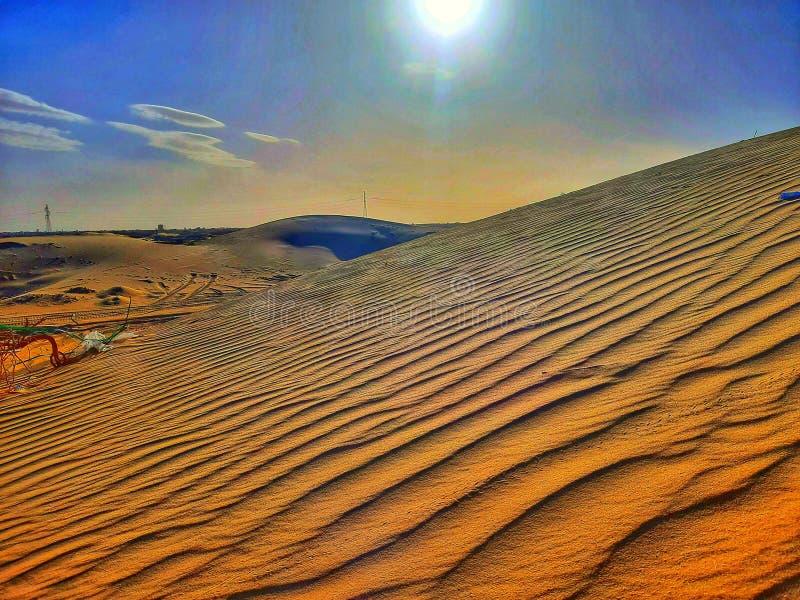 Sand dunes in desert royalty free stock photo