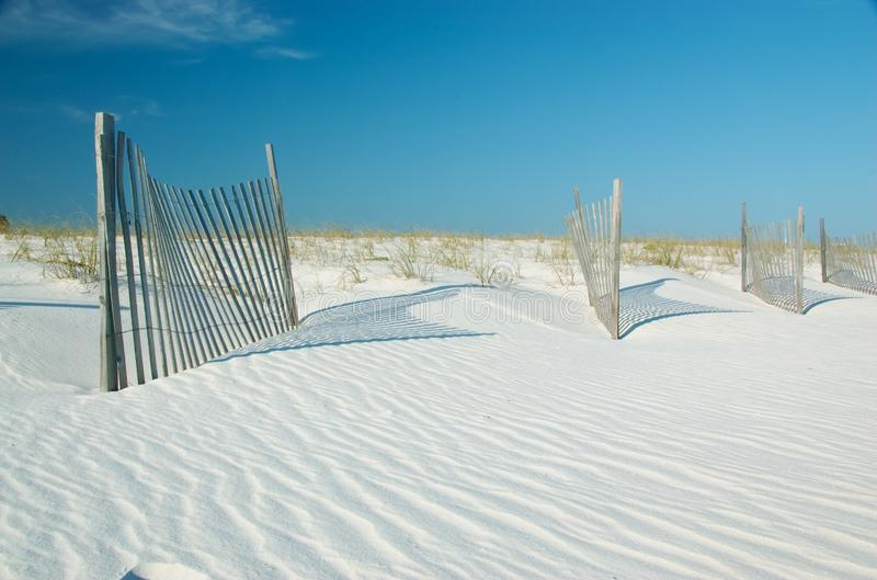 Sand dunes in Gulf State Park, Gulf Shores, Alabama stock images