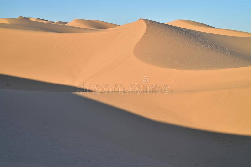 Sand dunes at Imperial Sand Dunes Recreational Area, California royalty free stock photos
