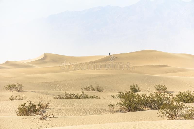Sand dunes landscape in the heat of Death Valley stock images